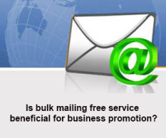 bulk mailing free service